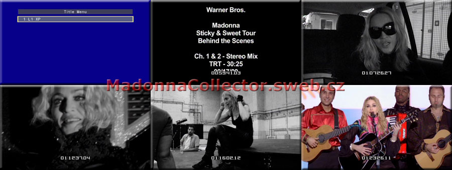 MADONNA The Sticky & Sweet Tour Behind The Scenes - 2010 USA Timecoded Test Pressing DVD-Reference (02/05/10)