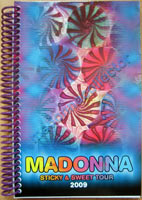 MADONNA Sticky & Sweet 2009 European Itinerary Book