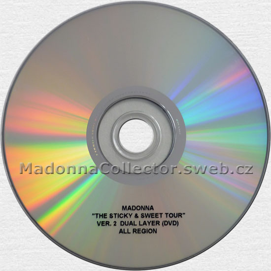 MADONNA The Sticky & Sweet Tour Ver. 2 - 2010 USA DVD Test Pressing (1 521138 V2.1)